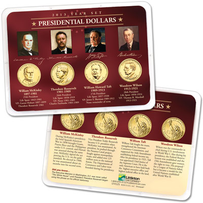Image for 2013 Presidential Dollar Year Set in Showpak (4 coins) from Littleton Coin Company