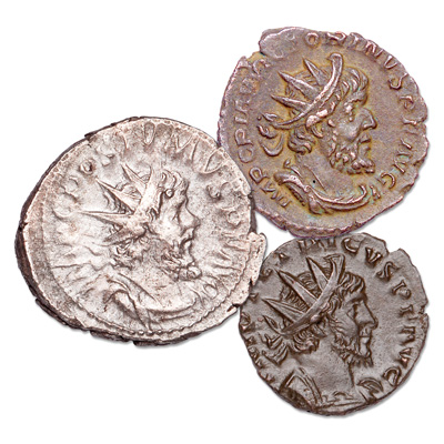 Image for A.D. 260-274 Gallic Empire Set (3 coins) from Littleton Coin Company