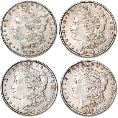 Image for 1879-1882 Morgan Dollar Year Set from Littleton Coin Company
