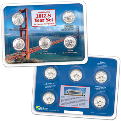 Image for 2012-S Uncirculated National Park Quarter Set in Showpak from Littleton Coin Company