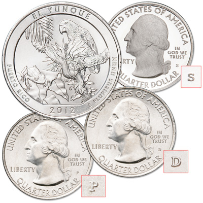 Image for 2012 PDS El Yunque National Forest Quarters from Littleton Coin Company