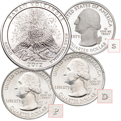 Image for 2012 PDS Hawai'i Volcanoes National Park Quarters from Littleton Coin Company