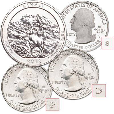 Image for 2012 PDS Denali National Park Quarters from Littleton Coin Company