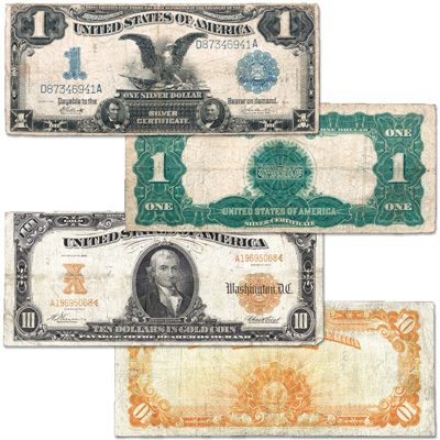 Image for 1899-1922 Hard Currency Set (2 notes) from Littleton Coin Company