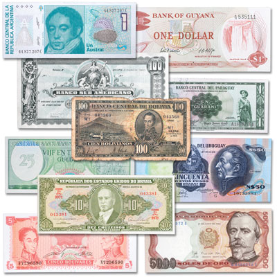 Image for 1911-1999 South American Bank Note Set from Littleton Coin Company