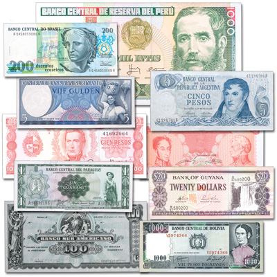 Image for 1920-1996 South American Bank Note Set from Littleton Coin Company