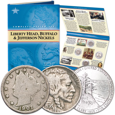 Image for Classic American Coin Set - Nickels (9 coins) from Littleton Coin Company