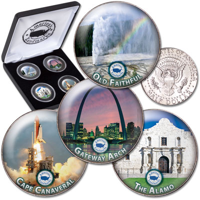 Image for U.S. Historic Landmarks Set #2 from Littleton Coin Company