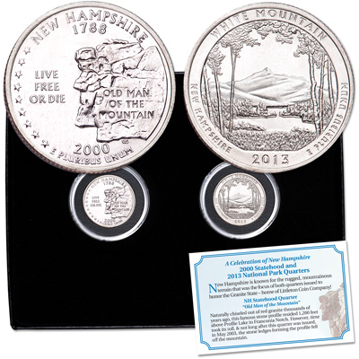 Image for 2000-2013 NH Statehood & National Park Quarter Set from Littleton Coin Company