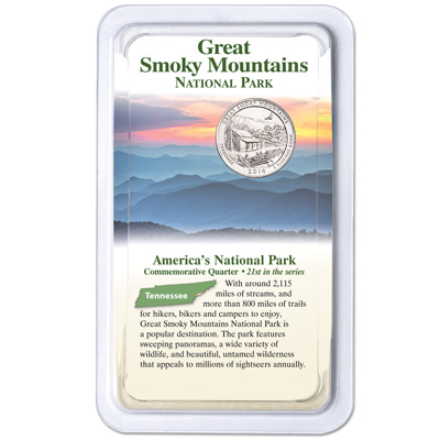 Image for 2014 Great Smoky Mountains National Park Quarter in Showpak from Littleton Coin Company