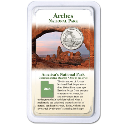Image for 2014 Arches National Park Quarter in Showpak from Littleton Coin Company