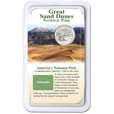 Image for 2014 Great Sand Dunes National Park Quarter in Showpak from Littleton Coin Company