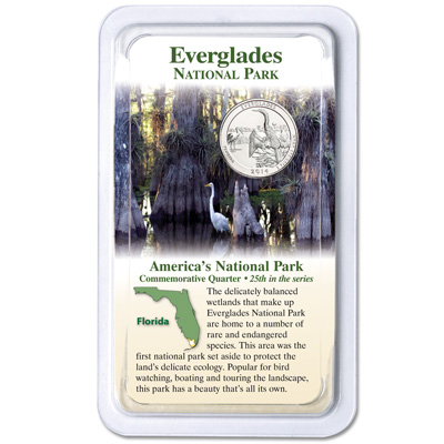 Image for 2014 Everglades National Park Quarter in Showpak from Littleton Coin Company