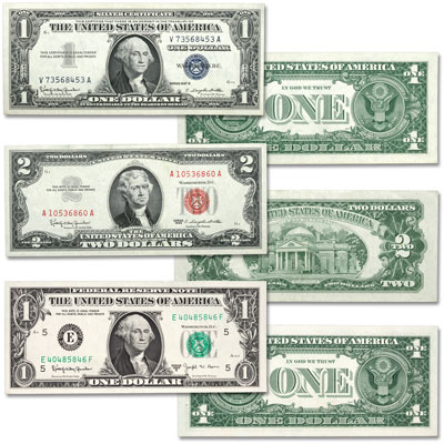 Image for 1957-1963 U.S. Paper Money Seal Set (3 colors) from Littleton Coin Company