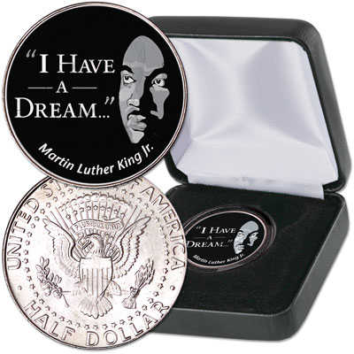 "Image for 2018 Colorized ""I Have a Dream"" Kennedy Half Dollar with Case from Littleton Coin Company"
