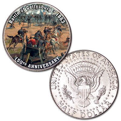 Image for 2013 Colorized Civil War Kennedy Half Dollar Battle of Gettysburg from Littleton Coin Company