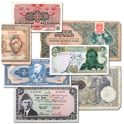 Image for 1919-1981 Special Issue World Bank Note Set (7 notes) from Littleton Coin Company