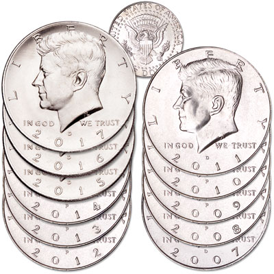 Image for 2007-2017 Kennedy Half Dollar Set from Littleton Coin Company