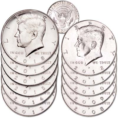 Image for 2008-2018 Kennedy Half Dollar Set from Littleton Coin Company