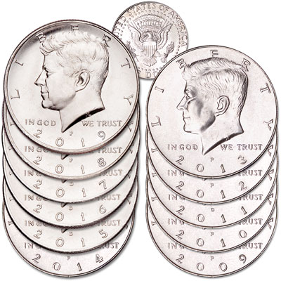 Image for 2009-2019 Kennedy Half Dollar Set from Littleton Coin Company