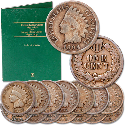 Image for 1887-1908 Indian Head Cent Set with Folder from Littleton Coin Company