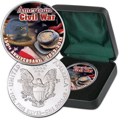 Image for 2013 Colorized Civil War American Silver Eagle from Littleton Coin Company