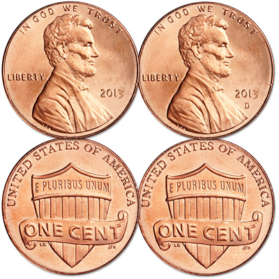 Image for 2013 P&D Lincoln Head Cent Set from Littleton Coin Company