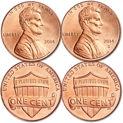 Image for 2014 P&D Lincoln Head Cent Set from Littleton Coin Company