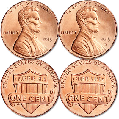 Image for 2015 P&D Lincoln Head Cent Set from Littleton Coin Company
