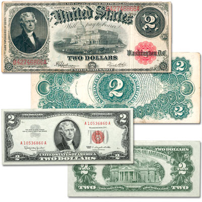 Image for Series 1917 & 1963 $2 Legal Tender Note Set from Littleton Coin Company