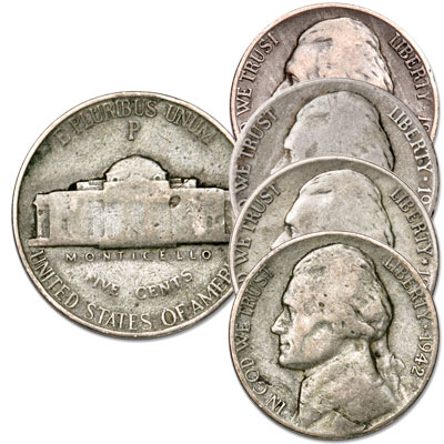 Image for 1942-1945 Jefferson Wartime Nickel Set from Littleton Coin Company