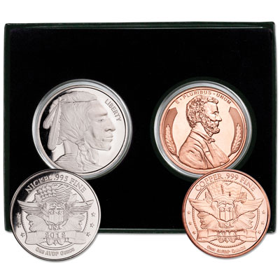 Image for Lincoln and Indian Head Rounds Set from Littleton Coin Company