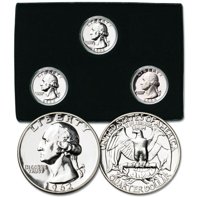 Image for 1962-1964 Last 3 Silver P-Mint Washington Quarters from Littleton Coin Company