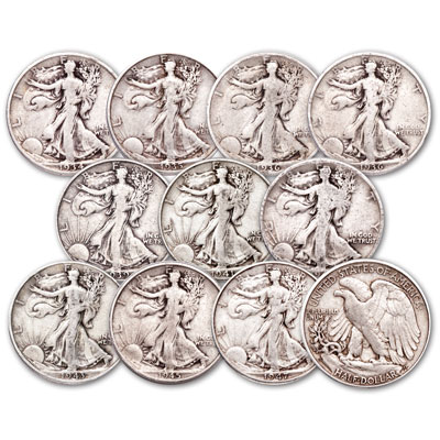 "Image for 1934-1947 ""D"" & ""S"" Mint Liberty Walking Half Dollar Set from Littleton Coin Company"