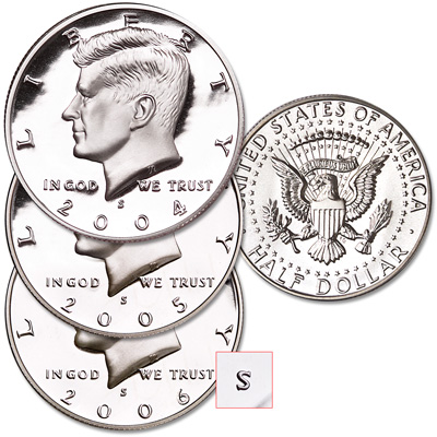"Image for 2004-2006 ""S"" Mint Kennedy Half Dollar Set from Littleton Coin Company"