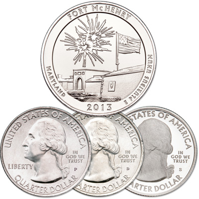 Image for 2013 PDS Fort McHenry National Monument & Historical Shrine Quarter Set from Littleton Coin Company