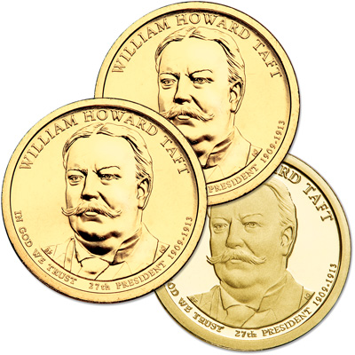 Image for 2013 PDS William Howard Taft Presidential Dollar Set (3 coins) from Littleton Coin Company