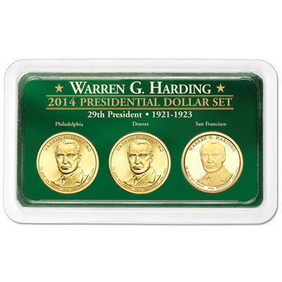 Image for 2014 Warren G. Harding Presidential Dollar in Exclusive PDS Showpak from Littleton Coin Company