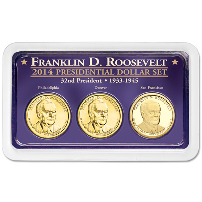Image for 2014 Franklin D. Roosevelt Presidential Dollar in Exclusive PDS Showpak from Littleton Coin Company
