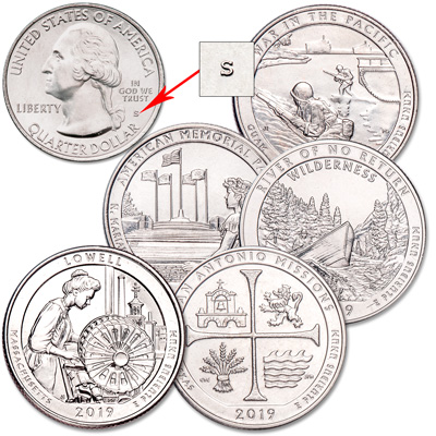 Image for 2019-S Unc. National Park Quarter Year Set from Littleton Coin Company