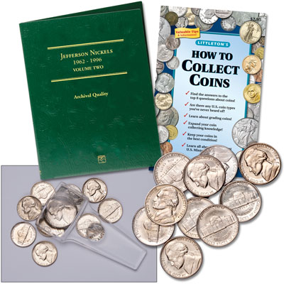 Image for 1962-1996 Jefferson Nickel Collecting Kit (10 coins) from Littleton Coin Company