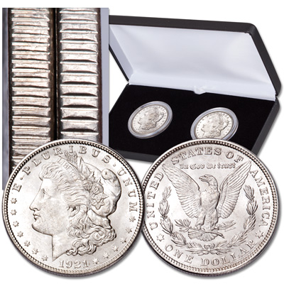 Image for 1921 Morgan Dollar Edge Reeding Set (2 coins) from Littleton Coin Company