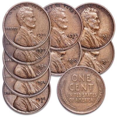 "Image for 1921-1932 ""D"" & ""S"" Mint Lincoln Cent Set from Littleton Coin Company"