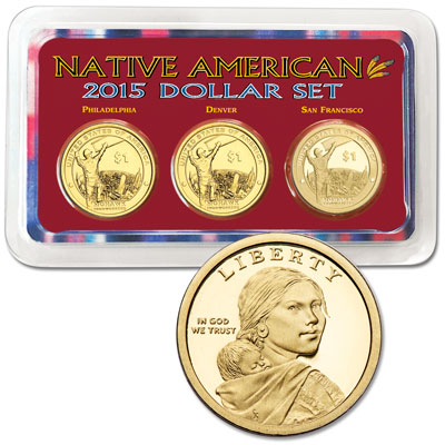 Image for 2015 PDS Native American Dollar Showpak from Littleton Coin Company