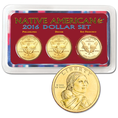 Image for 2016 PDS Native American Dollar Showpak from Littleton Coin Company