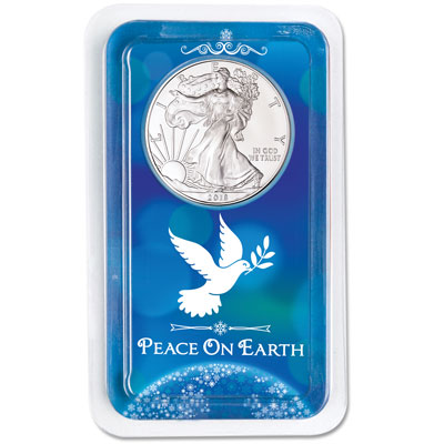 Image for 2018 Silver American Eagle in Peace on Earth Showpak from Littleton Coin Company