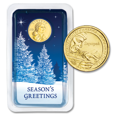 Image for 2017 Native American Dollar in Season's Greetings Showpak from Littleton Coin Company