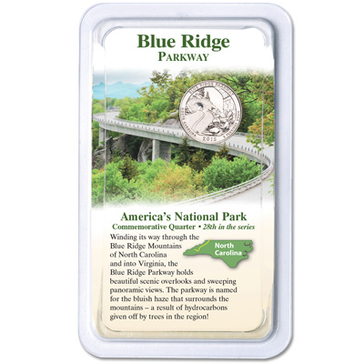 Image for 2015 Blue Ridge Parkway Quarter in Showpak from Littleton Coin Company