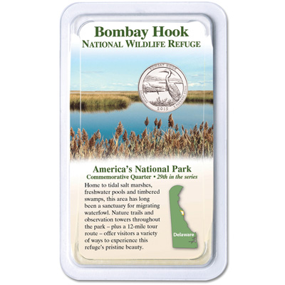 Image for 2015 Bombay Hook National Wildlife Refuge Quarter in Showpak from Littleton Coin Company