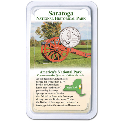 Image for 2015 Saratoga National Historical Park Quarter in Showpak from Littleton Coin Company